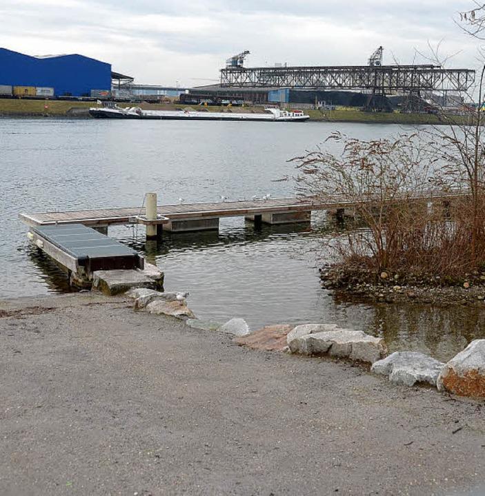 Auf dem Wasserweg soll das Füllmateria... hier zu sehen die Bootsanlegestelle.   | Foto: Peter Gerigk