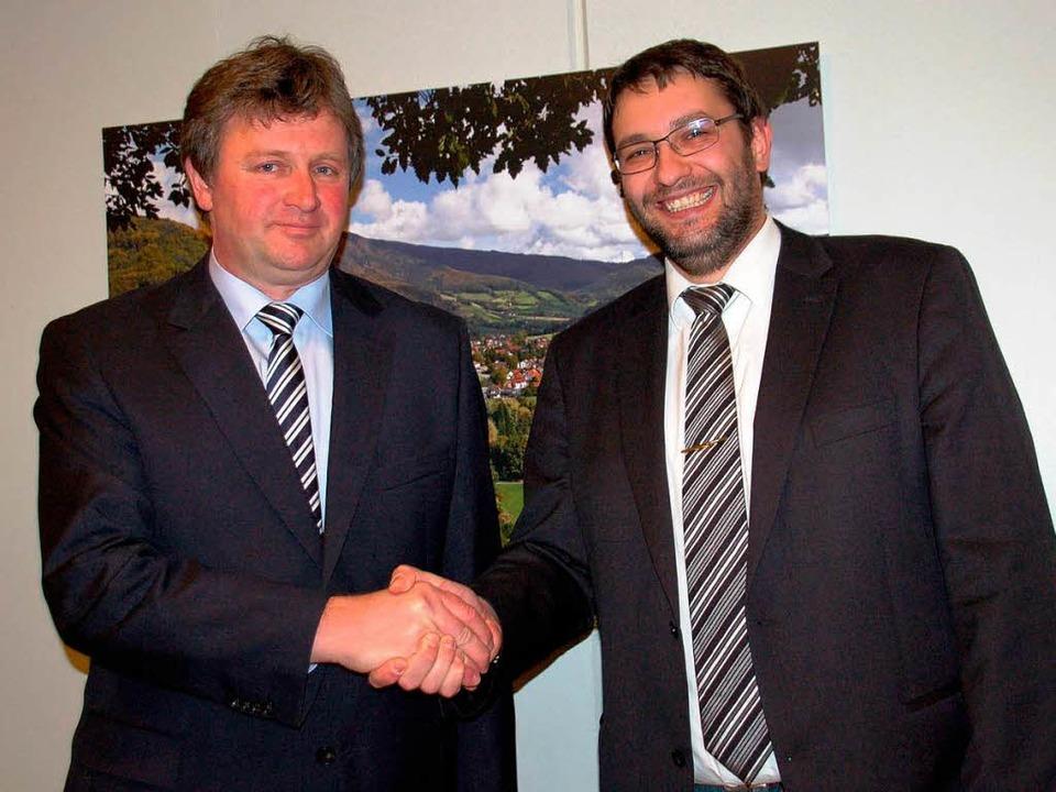 Dem neuen Glottertäler Bürgermeister K...usschussvorsitzender Christoph Maier.     Foto: Frank Kiefer
