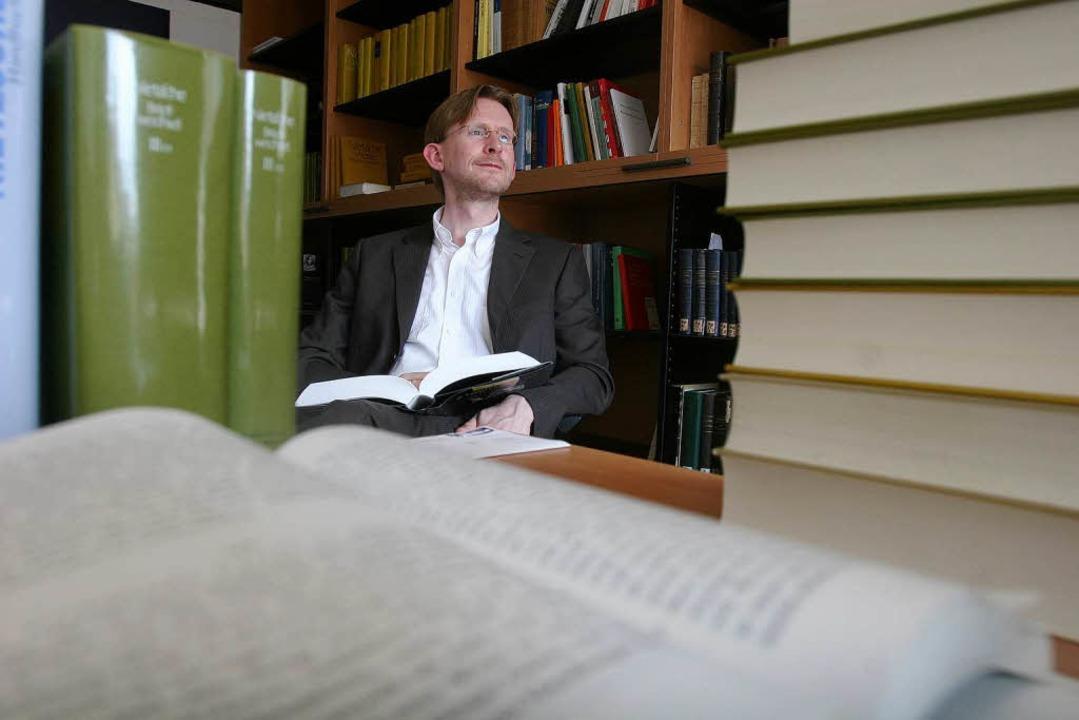 Andreas Urs Sommer unterrichtet Philos...urg – und ist Nietzsche-Experte.  | Foto: Patrik Müller