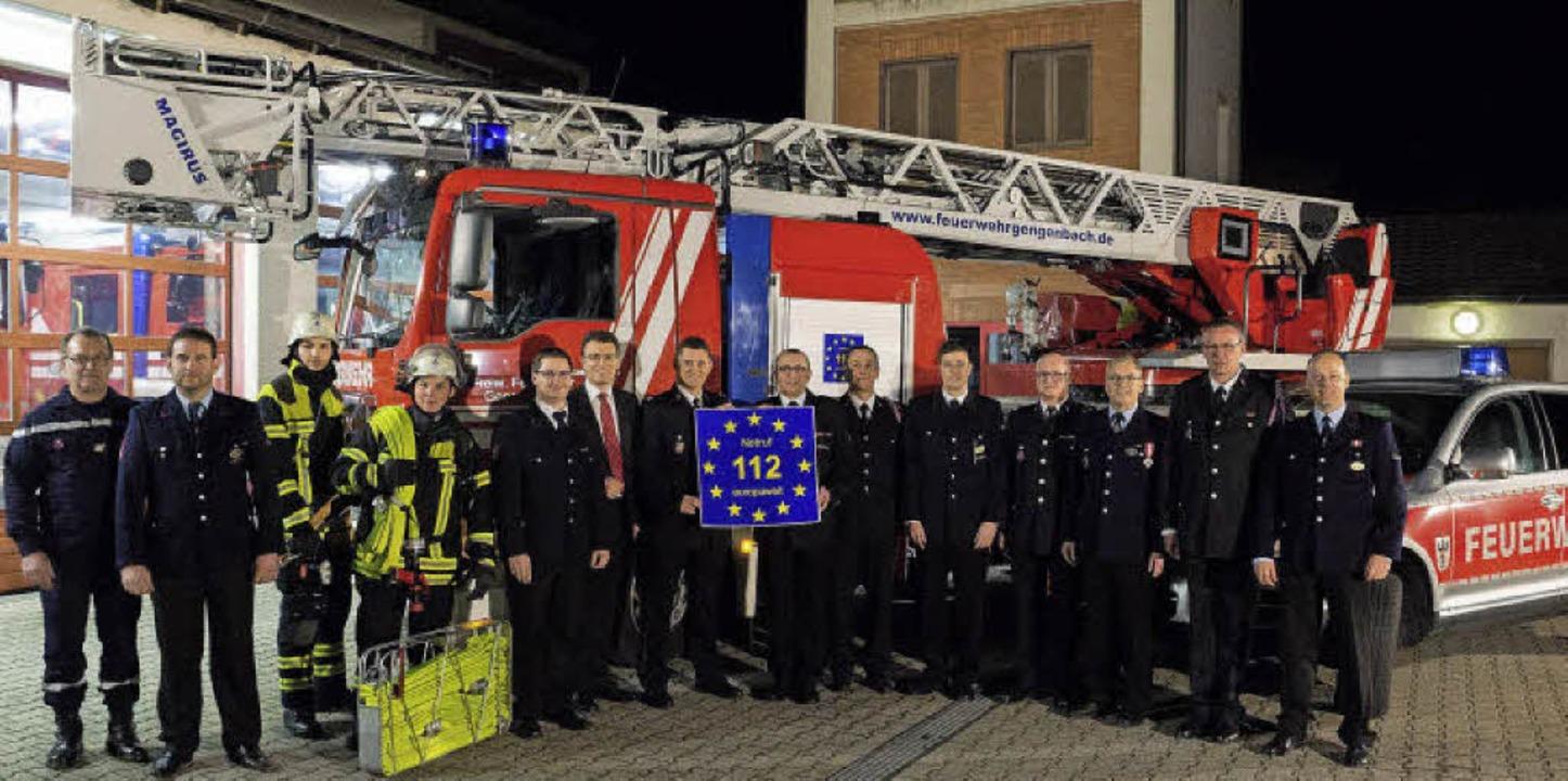 Aktion der Gengenbacher Feuerwehr zum ...ür die internationale Notrufnummer 112  | Foto: Andreas Ben Aissa
