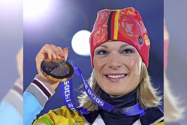 Maria Höfl-Riesch hat ihr drittes Olympia-Gold geholt