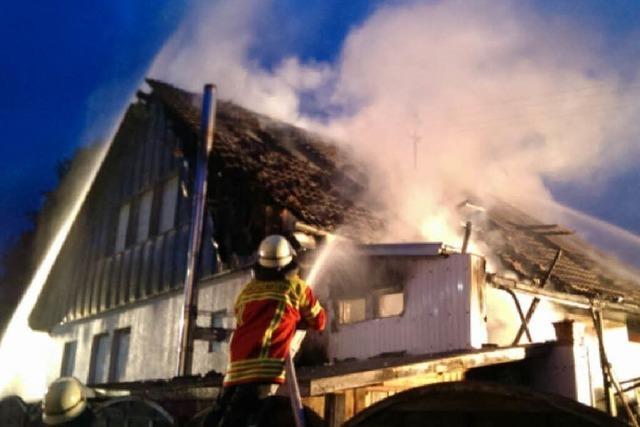 Feuer in Zarten – Wohnhaus in Flammen