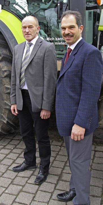 Geschäftsführer Heinz Rehm (links) und... in diesem Jahr gerechnet werden kann.    Foto: Gerda Oswald
