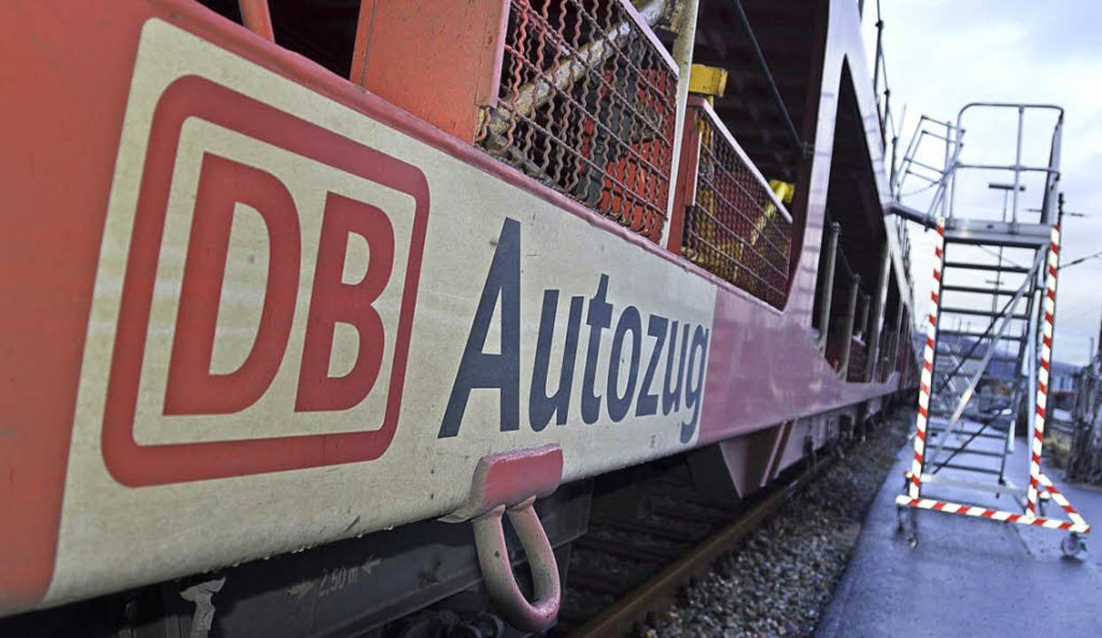 Der Autozug in Lörrach: Wie lange die ...e Debatte über Für und Wider im Gang.   | Foto: Nikolaus Trenz