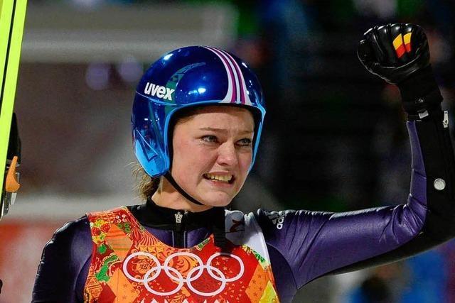 Tränen des Glücks: Skispringerin Carina Vogt holt Gold