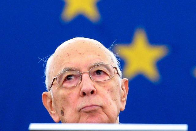 Italiens Präsident Napolitano in der Kritik
