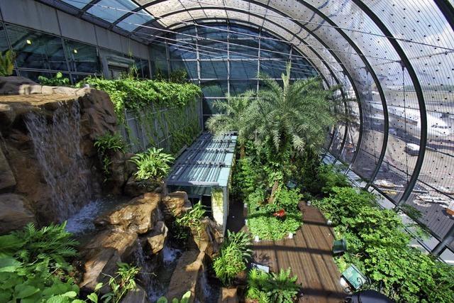 Wellness, Garten, Kunst und Arztbesuch - am Flughafen