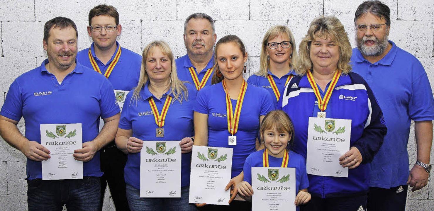 Bei der Landesmeisterschaft der Bogens...   Conny Gutmann, Siegfried Woywod   .  | Foto: ZVG