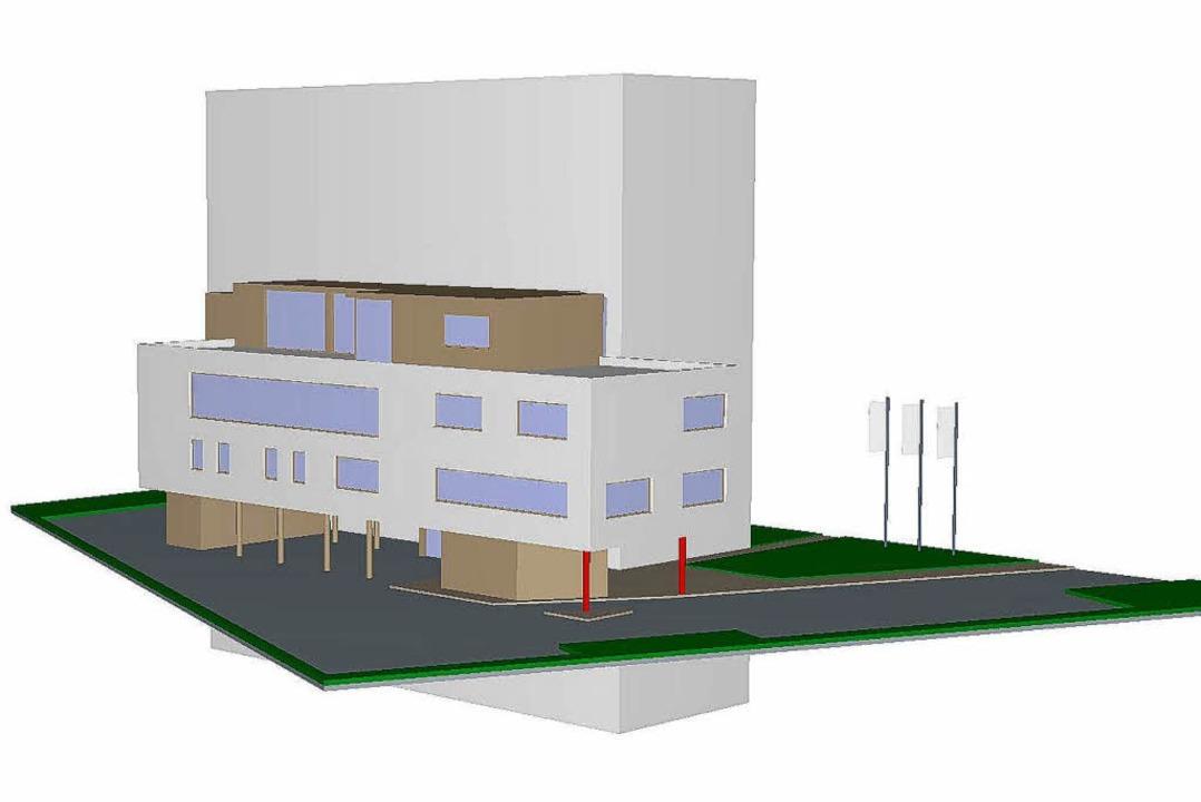 Der Gebäudekomplex Windtunnel als Comp... Ringsheim aus gesehen einmal aussehen    Foto: Windwwerk