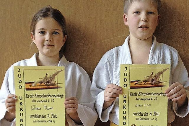 Erfolgreiche junge Judokas