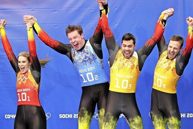 Viermal Gold – die deutschen Rodler räumen alles ab