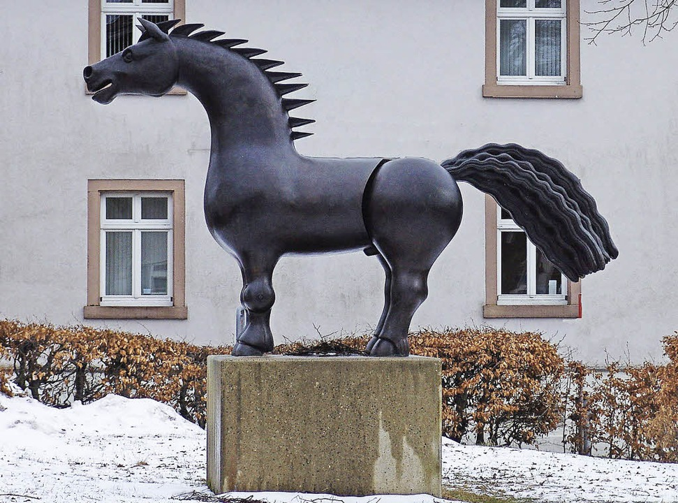 Das Bronzepferd in St. Märgen  | Foto: Heinrich Fehrenbach