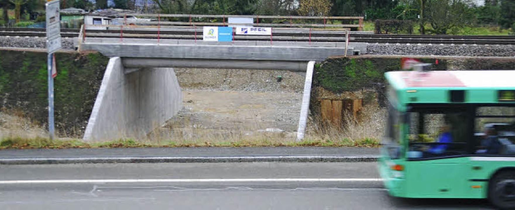 Die Unterführung beim Hornboden ist ni...rgrund die bisherige Bundesstraße 34.   | Foto: Ralf Staub