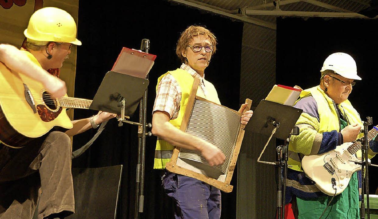 Narronen im Dreierpack: Jürgen Maier, ... Zunft (weiter von links nach rechts).    Foto: Hildegard Siebold