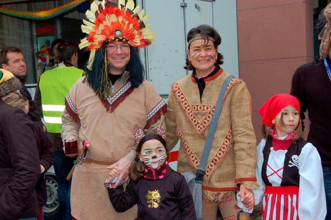 Familie Beuchert aus Gundelfingen ließ sich den Spaß nicht entgehen.    Foto: Andrea Steinhart