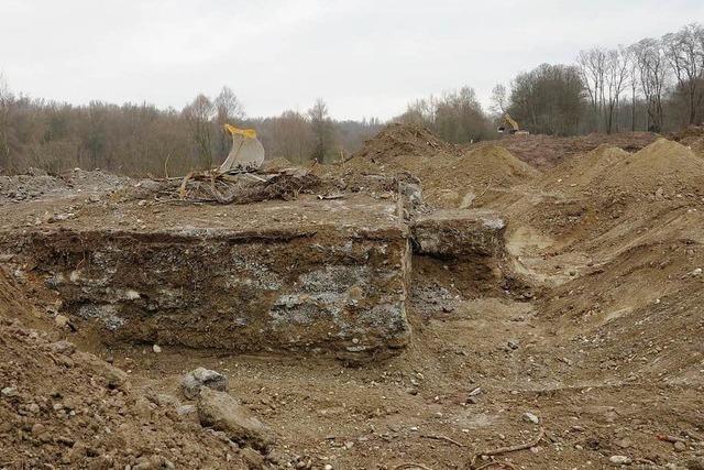 Niederländer kartiert Bunkerruinen in Neuenburg