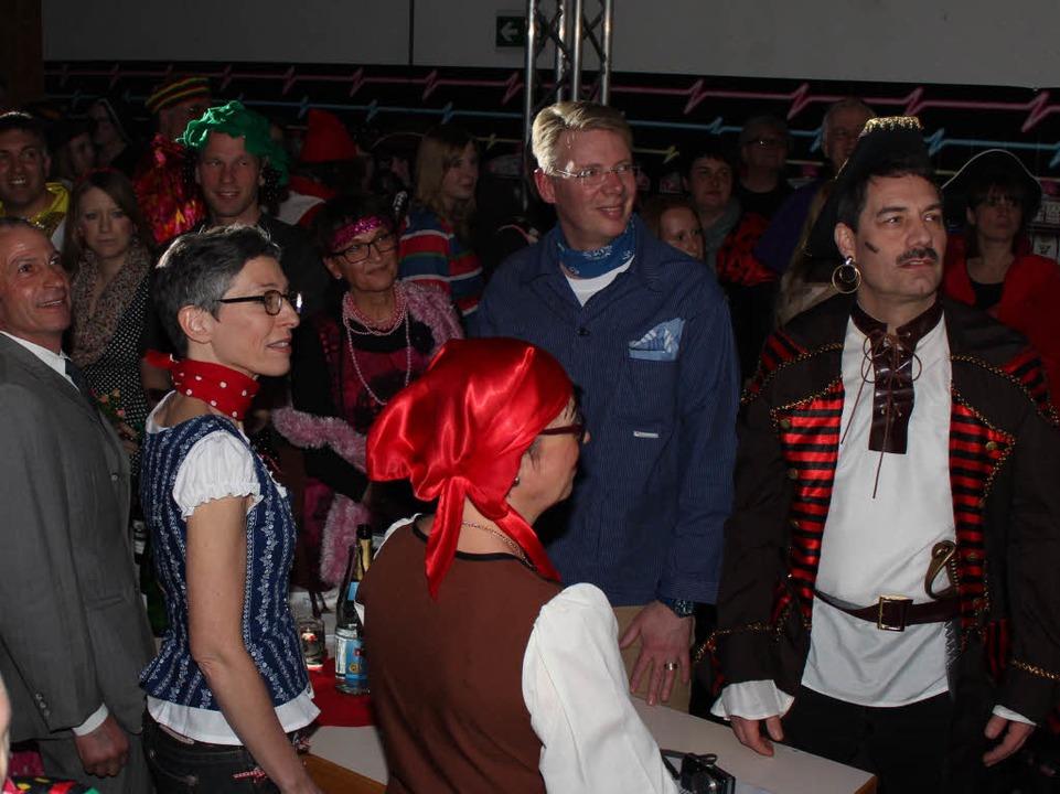 Auch der neue Bürgermeister Christian Riesterer (Mitte) war mit dabei.  | Foto: Mario Schöneberg