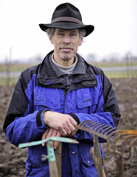 Heinz Roth mag auch Gemüse mit optischen Macken.   | Foto: Chr. Breithaupt
