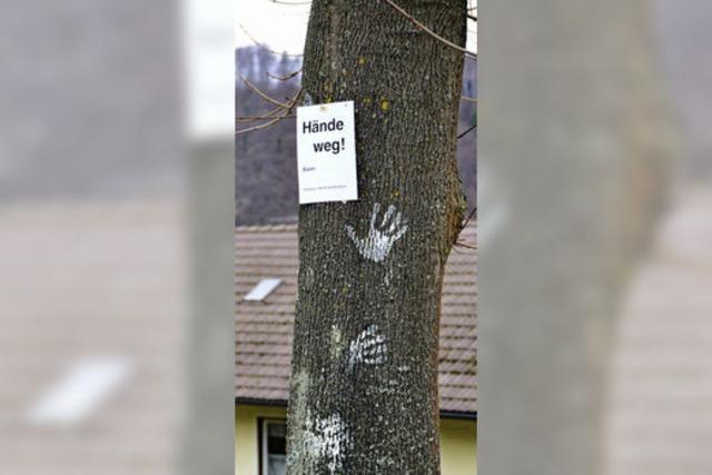 Die Axt am Baum: Bürger entrüstet