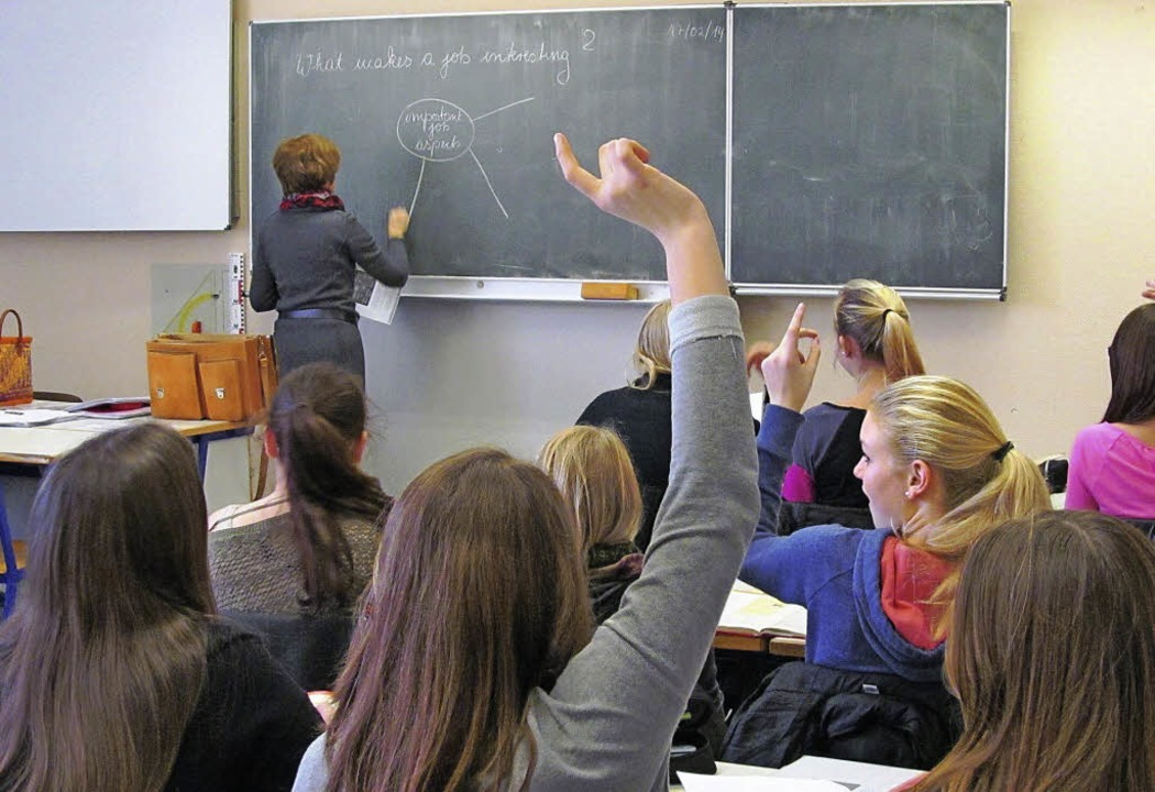 Schülerinnen und Schüler können künfti...o-Höfler-Realschule  bilingual lernen.  | Foto: christoph Müller