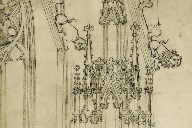 Baustelle Gothik: Mittelalterliche Planzeichnungen des Freiburger Münsterturms
