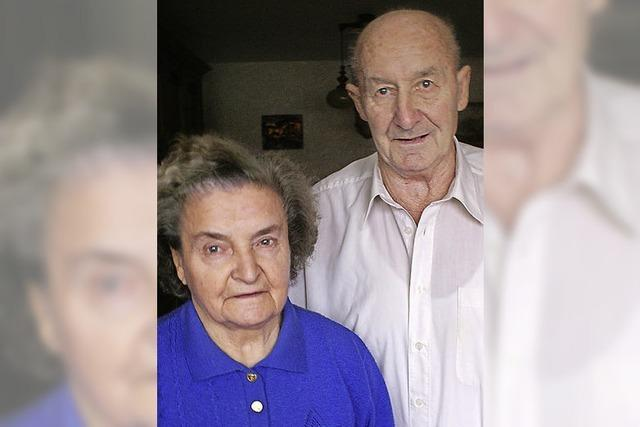 Fridolin und Gertrud Ebner feiern diamantene Hochzeit