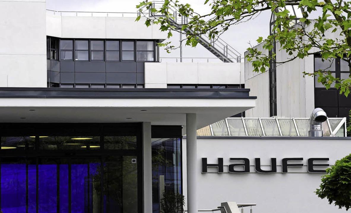 Die Haufe-Gruppe im Freiburger Gewerbegebiet Haid   | Foto: Thomas Kunz/Regula Wolf