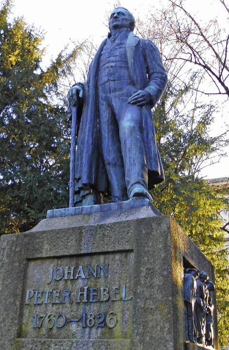 Das Denkmal für Johann Peter Hebel ste... in Lörrach. Es wurde 1910 errichtet.     Foto: Daniel Scholaster