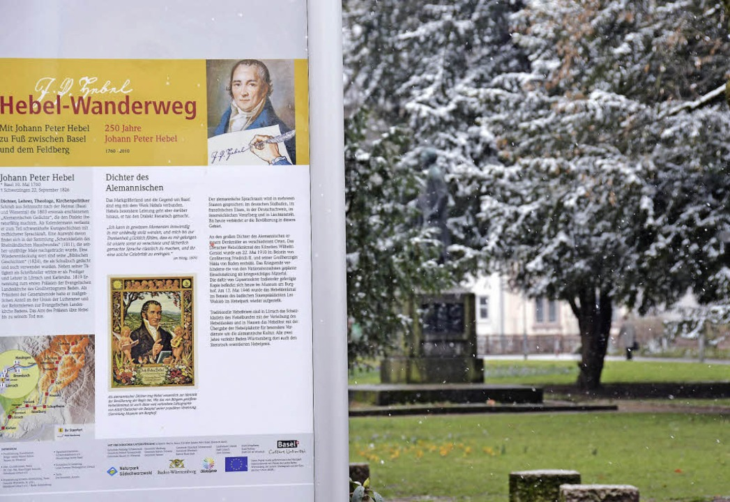 Auch der Hebel-Wanderweg erinnert an den Dichter.     Foto: Nikolaus Trenz