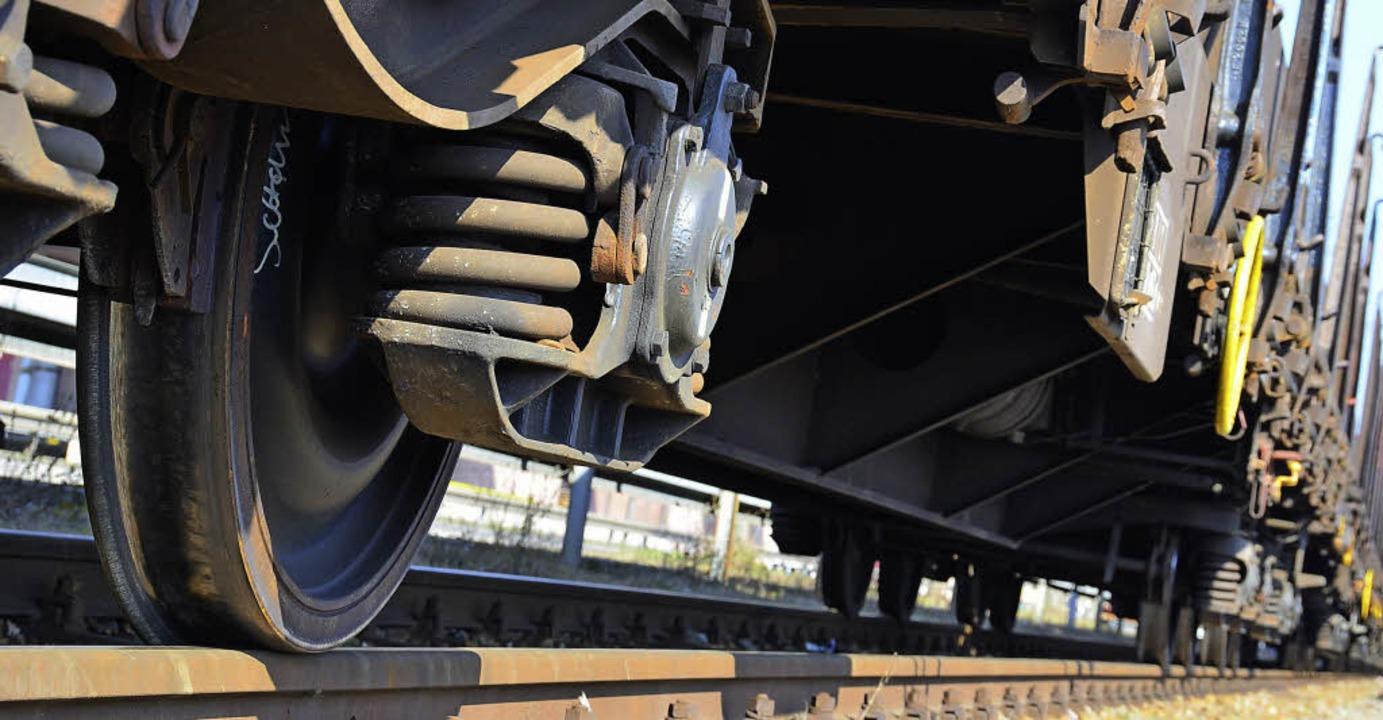 Alte Güterwaggons machen Krach. Mit de...chon. Folgt Heitersheim dem Beispiel?     Foto: seller/bamberger