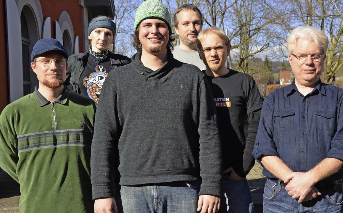 Neuer Vorstand der Freiburger Piratenp...r), Sabin Schumacher (1. Beisitzende).  | Foto: Tillmann Becker-Wahl