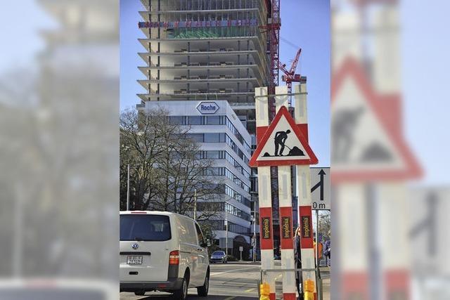 Im Basler Stadtgebiet gibt es ständig 100 Baustellen