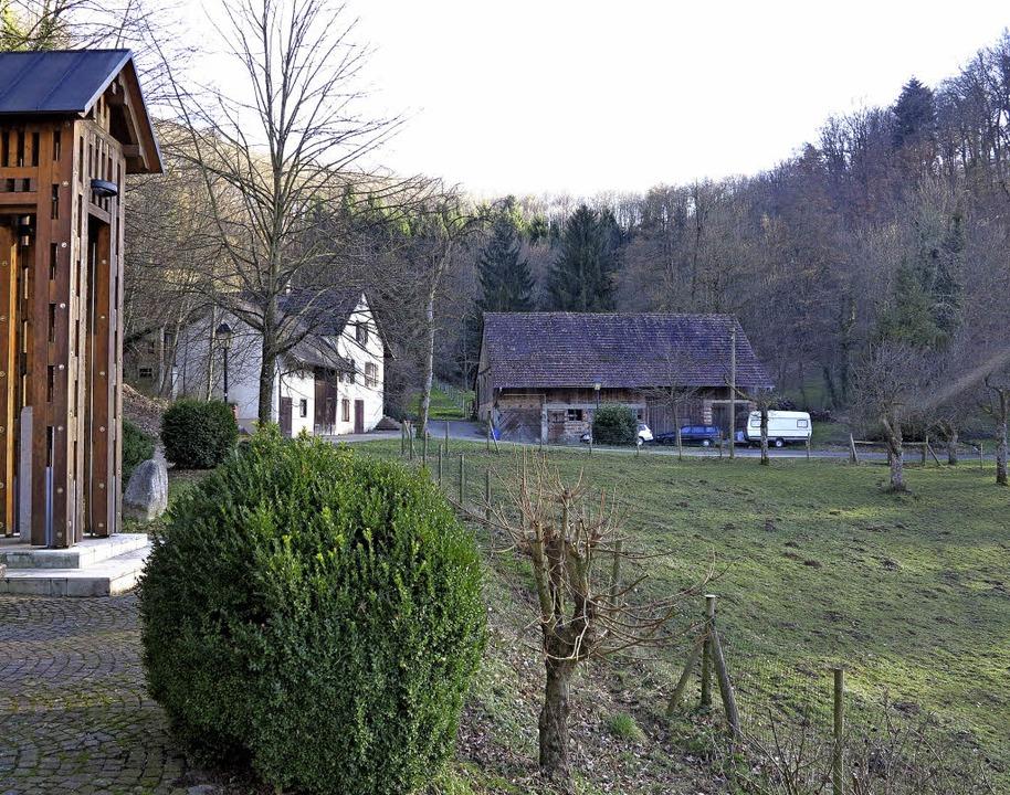 Auf dieser Wiese am Talende wurden die Mauerreste des Klosters nachgewiesen.   | Foto: Dorothee Philipp
