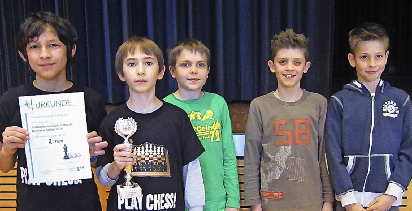 Die Jungs des Heitersheimer Schachclubs freuen sich über ihre Siege.  | Foto: raske