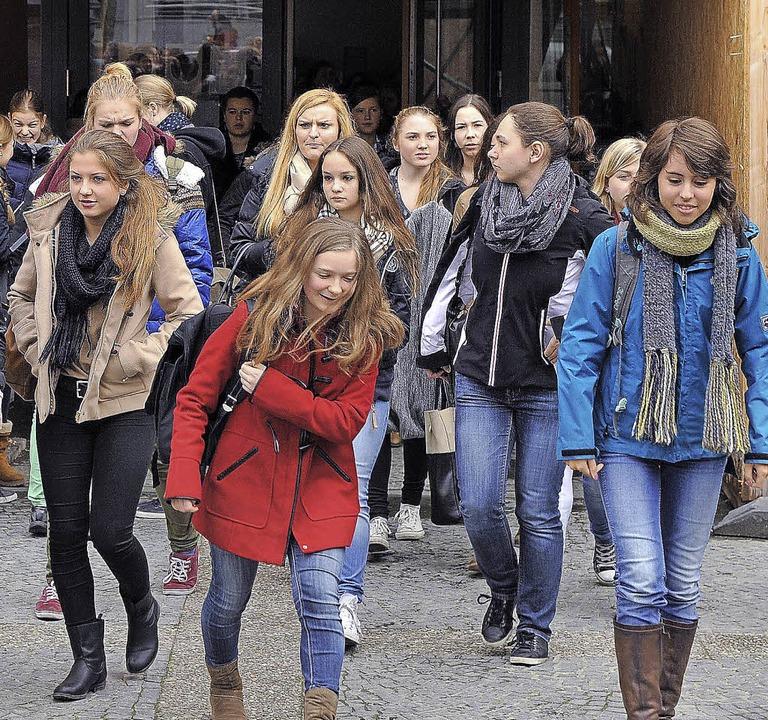 Auch die Schülerinnen am St. Ursula hatten frei.   | Foto: Rita Eggstein