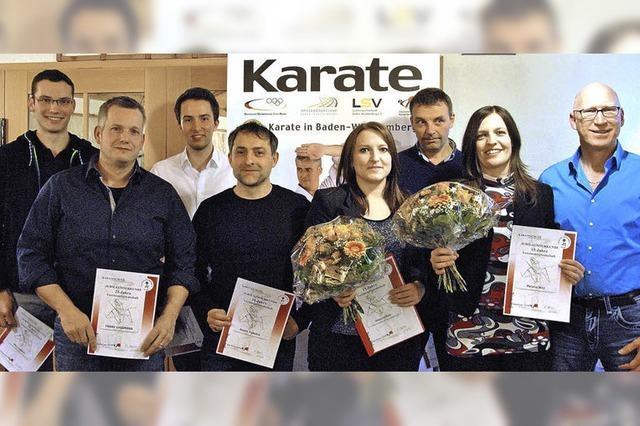 Zwei Karateka im Nationalkader