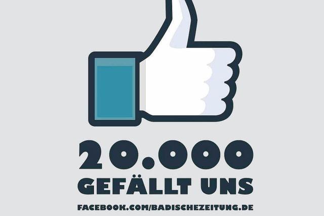 Die Badische Zeitung hat jetzt 20.000 Facebook-Freunde