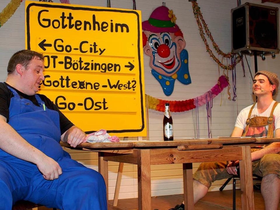 Denni (Daniel Hengst) und Manni (Hans-...m ohne Bürgermeister Kieber weitergeht  | Foto: Mario Schöneberg