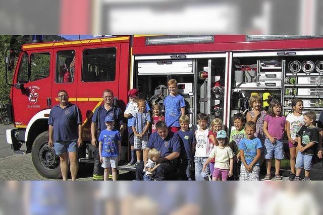 Kindergruppe der Feuerwehr fest verankert