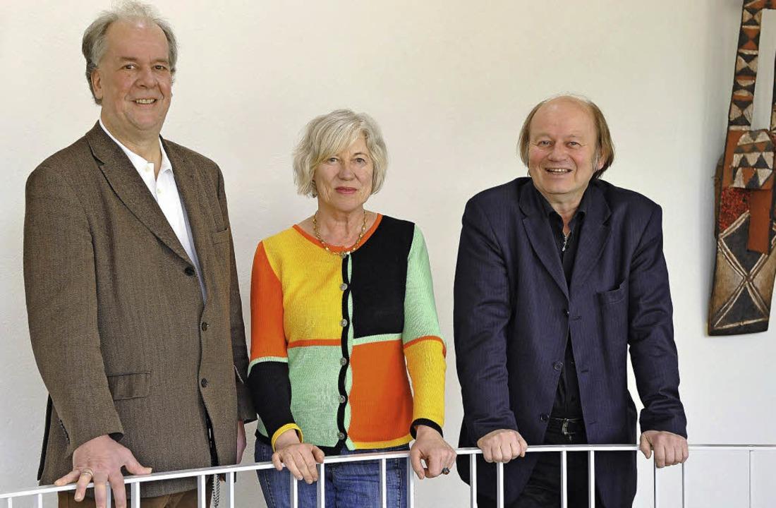 Gehen für die Kulturliste bei der Komm...r, Brigitte von Savigny, Atai Keller    | Foto: rita eggstein