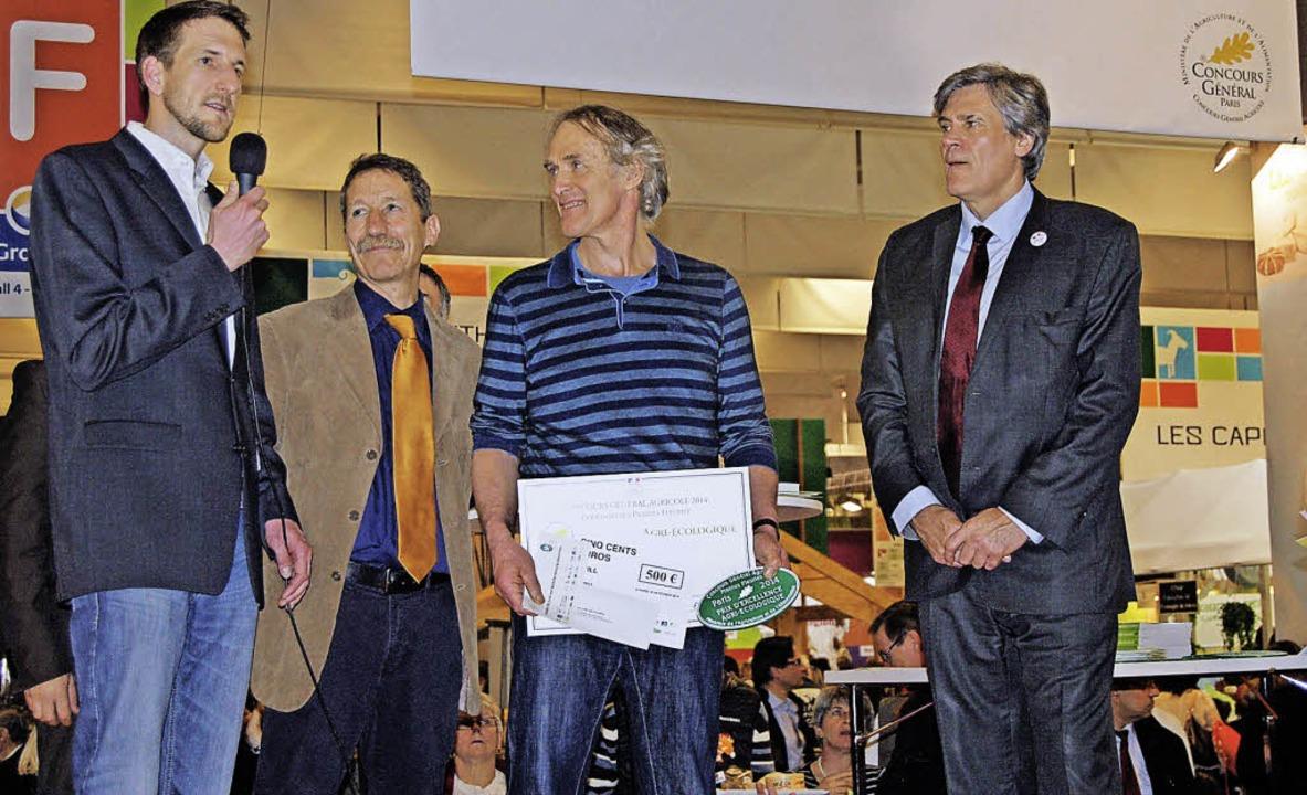 Preisverleihung in Paris Bildtitel (v.... französischer Landwirtschaftsminister  | Foto: Privat