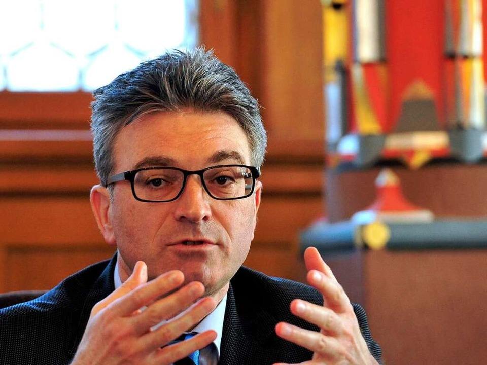 Dieter Salomon erwartet auch Geld vom Land.  | Foto: Thomas Kunz