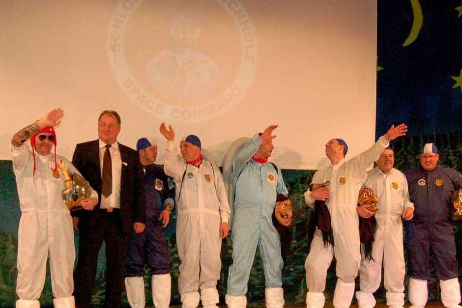 Expeditionsfreudige Buchholzer: Sie waren die ersten auf dem Mond. (Foto: Christian Ringwald)