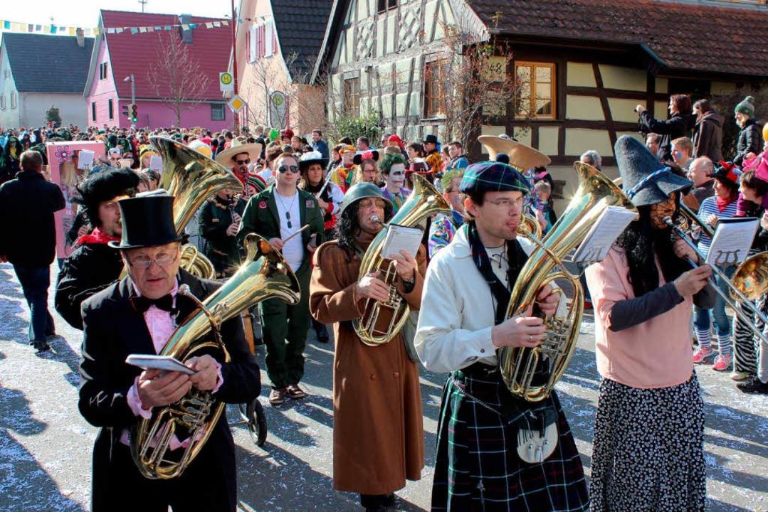 Sorgen für den richtigen Ton: die Truppe des Musikvereins  | Foto: Mario Schöneberg