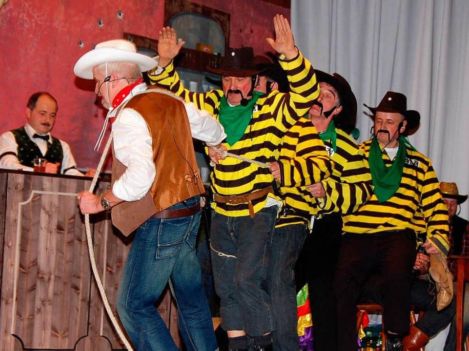 Die Daltons zogen alle Register, aber Lucky Luke war auch in Weizen stärker!  | Foto: Jutta Binner-Schwarz