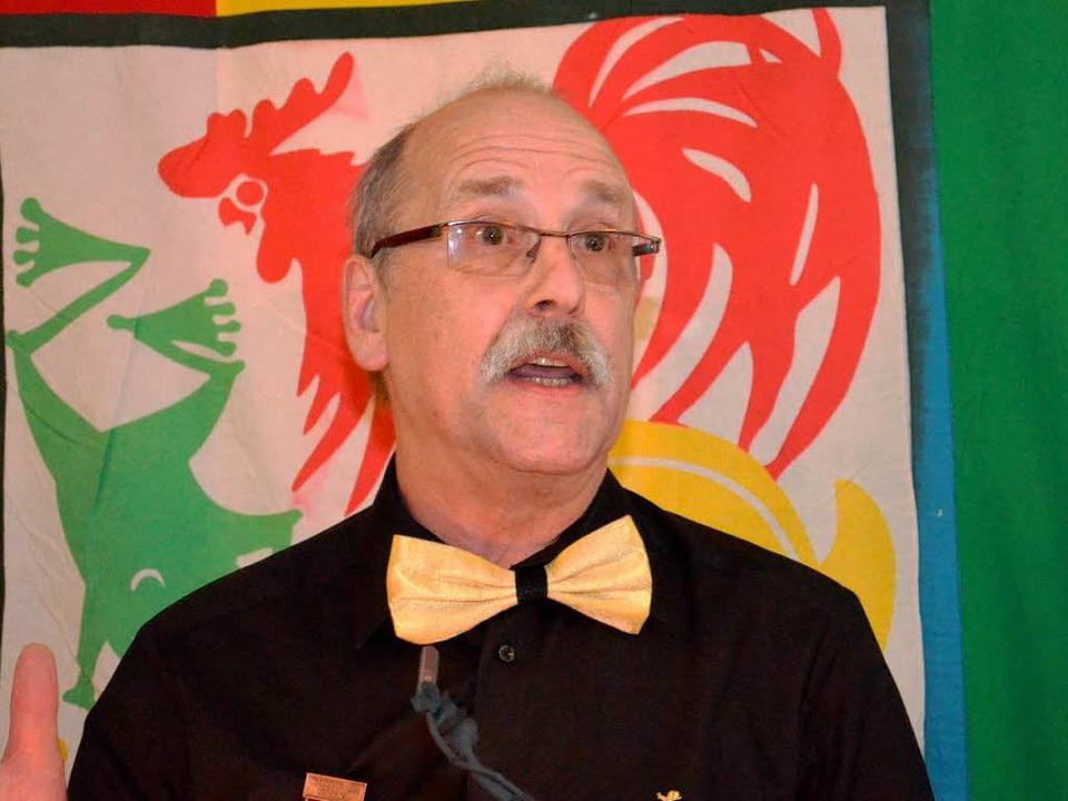 Hubert Bernnat: Der Direktor des Hans-Thoma-Gymnasiums  bei der Ratssuppe.  | Foto: Nikolaus trenz