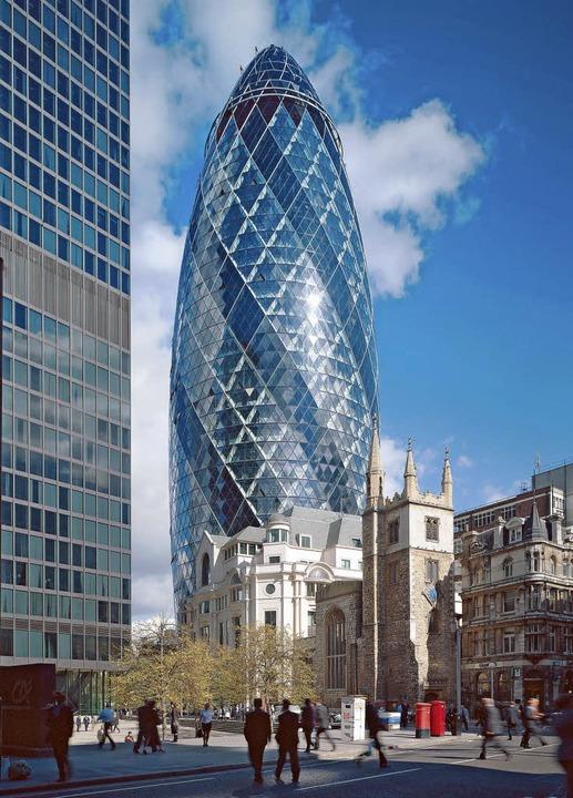 Wie von einem fremden Stern:   Firmensitz der Swiss Re in London   | Foto: bz
