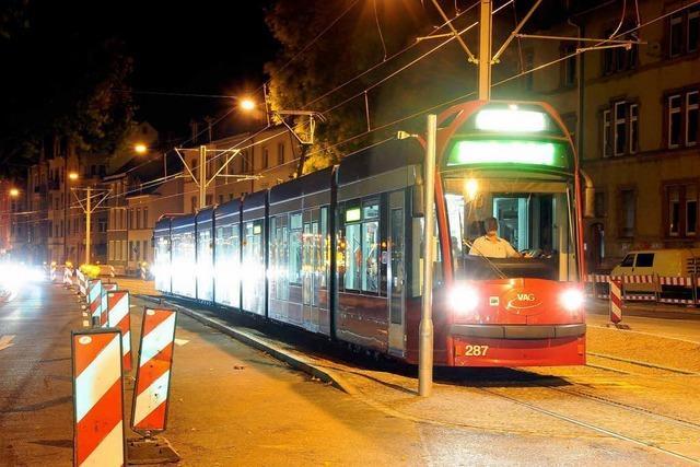 Freiburg: Straßenbahnen sollen an Wochenenden nachts durchfahren