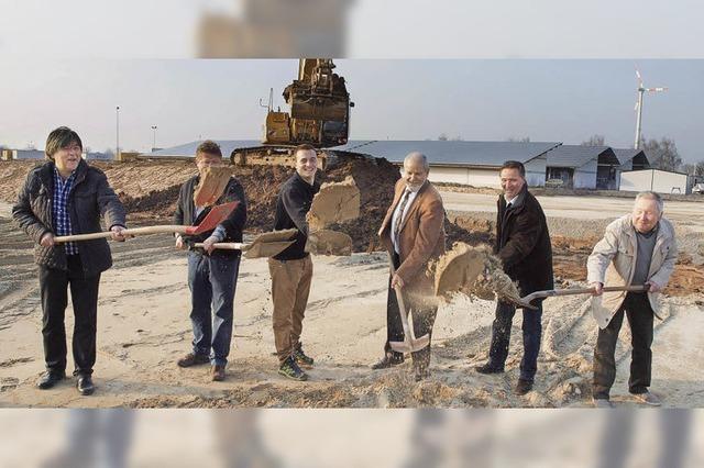 Baubeginn für neues Erdenwerk