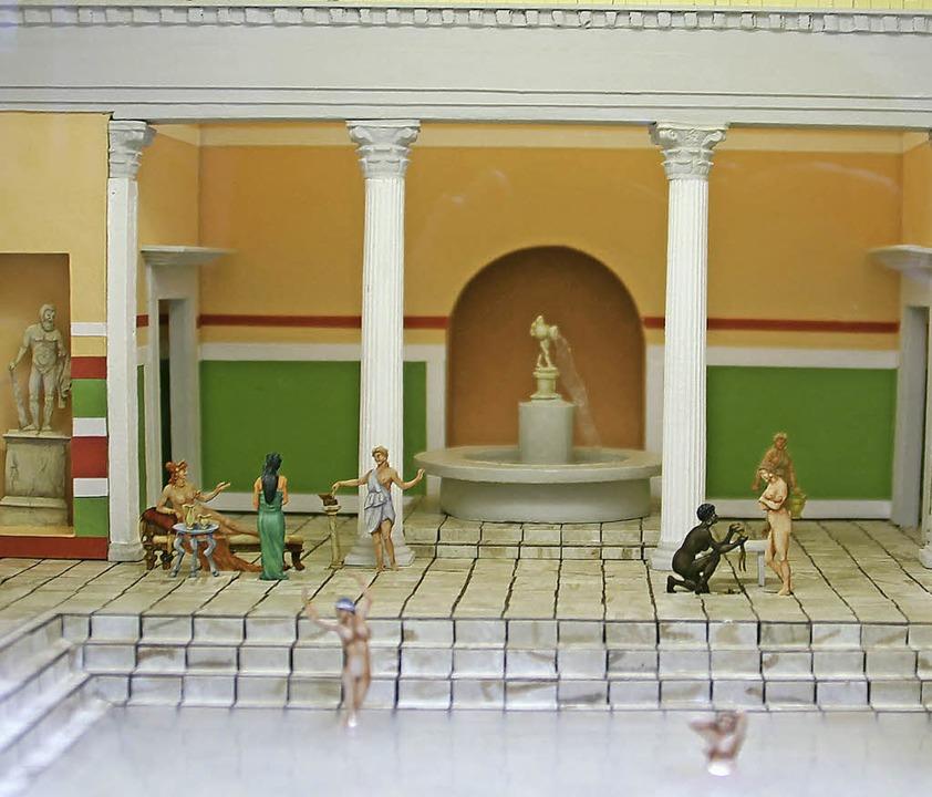 Auch  eine Badeszene gehört zu  den ru...er Villa urbana  ausgestellt werden.    | Foto: Sabine Model